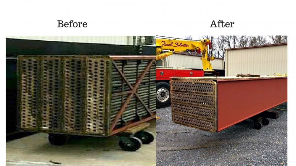 Hydrogen Cooler Before and After